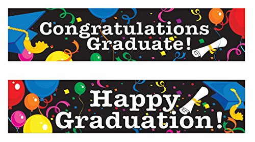 Beistle Graduation Banners 2 Per Item -