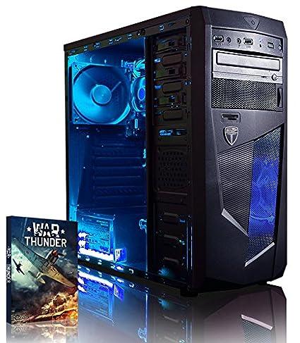 VIBOX Vision 2S - Ordenador para Gaming (AMD A4-6300, 8 GB de RAM, 2 TB de Disco Duro, AMD Radeon HD 8370D) Color neón Azul