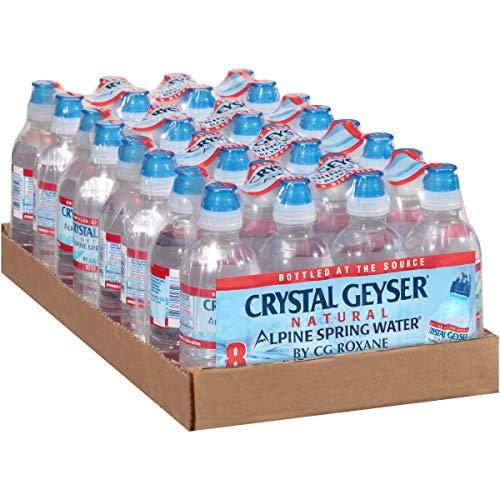 Crystal Geyser Spring Sport, Pack of 8, 8-Ounce (Case of 4, 32 Bottles Total)