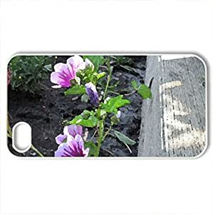 lintao diy Beautiful Flowers at the park - Case Cover for iPhone 4 and 4s (Flowers Series, Watercolor style, White)