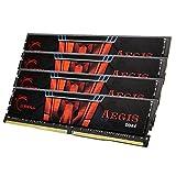 G.SKILL 32GB (4 x 8GB) Aegis DDR4 PC4-19200 2400MHz For Intel Z170 Platform And Intel X99 Platform 288-Pin Desktop Memory Model F4-2400C15Q-32GIS