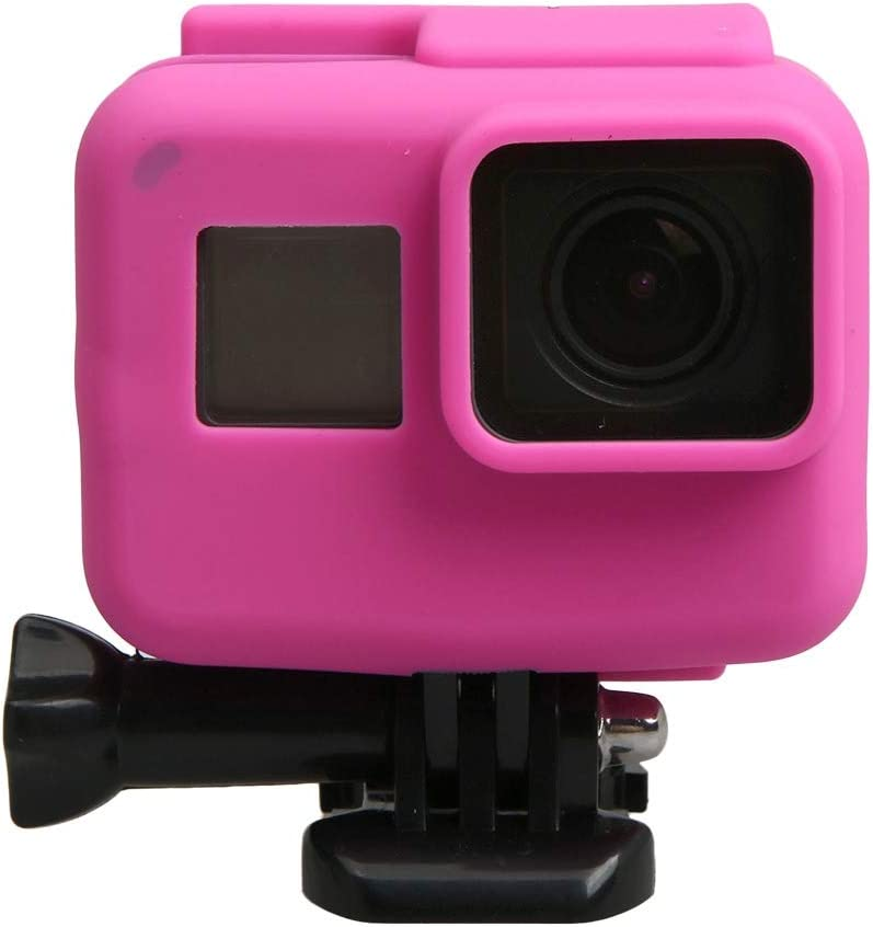 Color : Pink for GoPro HERO5 Silicone Border Frame Mount Housing Protective Case Cover Shell Black XHC Protective Case
