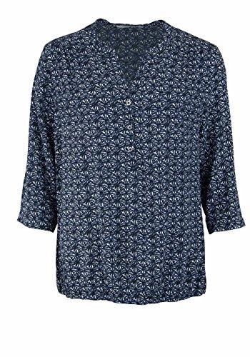 BETTY BARCLAY 3/4 Arm Bluse Loose Fit Allover Druck nachtblau/weiß
