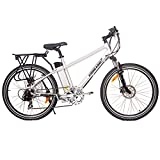 X-Treme Trail Maker High Performance Electric Bike, Aluminum Color