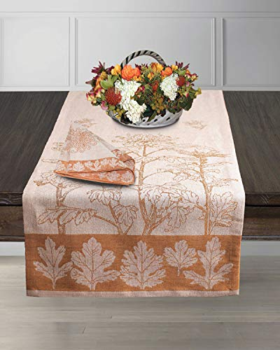 Armani International Finezza Gentile Table Runner 120-inch Linen Cotton | Crafted in Europe ()