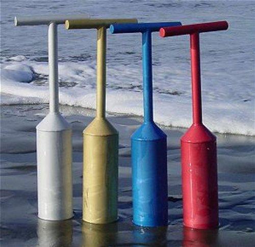 Blue Aluminum Clam (Ocean Blue Powered Coated Aluminum Razor Clam Gun)
