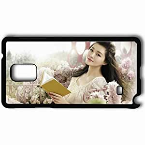 Personalized Samsung Note 4 Cell phone Case/Cover Skin Asian Face Book Smile Black