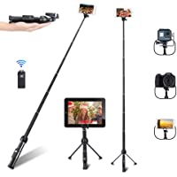Selfie Stick, Professional 45-Inch Selfie Stick Tripod, Extendable Selfie Stick with Wireless Remote and Tripod Stand…