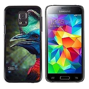 FlareStar Colour Printing Dinosaur Bird Prehistoric Mint Green cáscara Funda Case Caso de plástico para Samsung Galaxy S5 Mini / Galaxy S5 Mini Duos / SM-G800 !!!NOT S5 REGULAR!