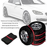 Bingo Point 4Pcs Spare Tire Cover Case Nylon Winter Summer Car Tires Storage Bag Automobile Tyre Vehicle Wheel Protector for 16-22 inch