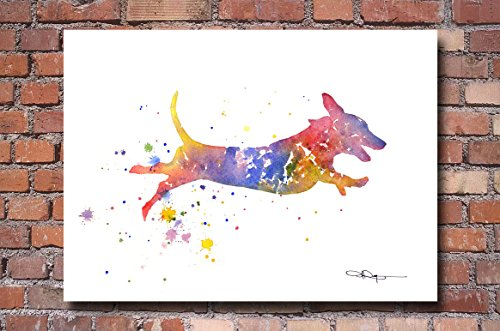 Dachshund Dog Abstract Art Print By Artist DJ Rogers