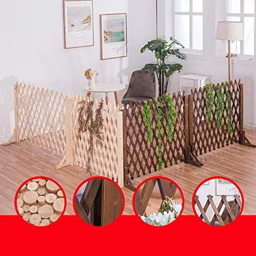 庭のフェンスの装飾屋外大 ネットグリル独立した木製の庭の植物の成長支援画面拡張網目状の装飾伸縮フェンス、折り畳み式と調節可能な自立型の、 木製の折りたたみ式フェンス (Color : White, Size : 70cm)