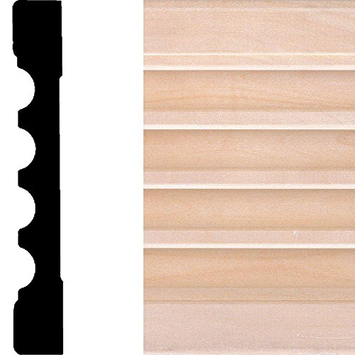 House of Fara 7 ft. x 5-1/4 in. x 3/4 in. Basswood Fluted Moulding by House of Fara