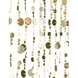 ShopWildThings Beaded Curtain Bubbles Lt. Gold Metallic over Acrylic