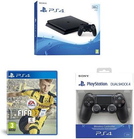 PlayStation 4 Slim (PS4) - Consola de 500 GB + FIFA 17 + Mando ...