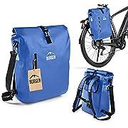 Borgen Fahrradtasche für Gepäckträger 3in1 Fahrrad Rucksack I Gepäckträgertasche I Umhängetasche – Kombi Fahrrad Tasche…