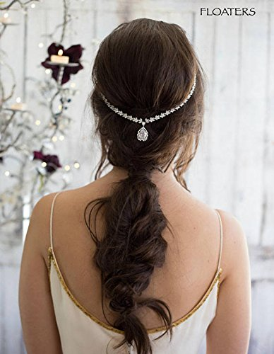 Bridal Headpiece Head Chain, Crystal Headband, Goddess Hair Chain, Wedding Hair Accessories, Designer Jewelry by Hair Floaters