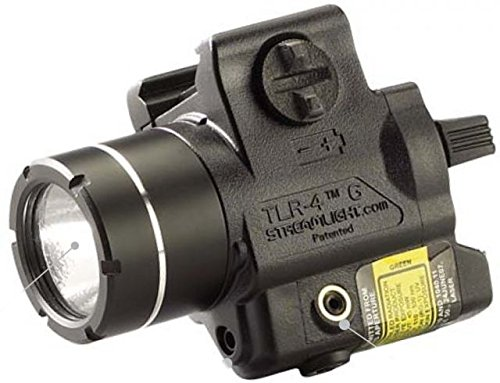 Streamlight TLR-4 G Compact Rail-Mounted Tactical Light with Green - Flush 4 Light Rail