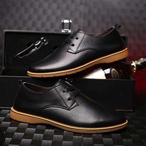 Negro Feidaeu Sintético de Hombre Zapatos Material wzzr4qxXp