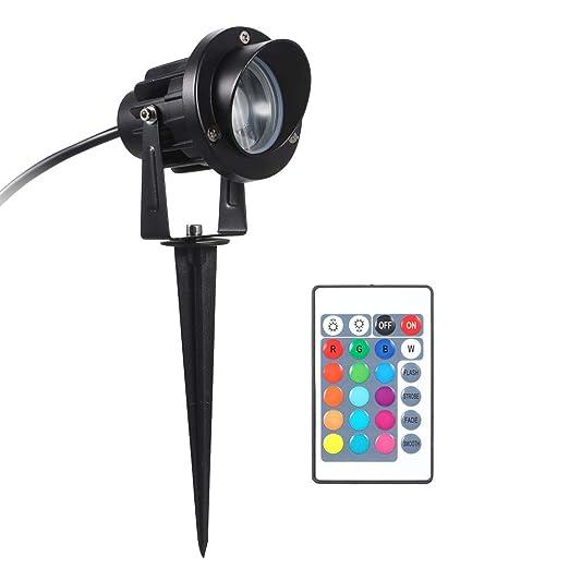 Festnight Proyector LED RGB de 10 vatios Control Remoto CA ...