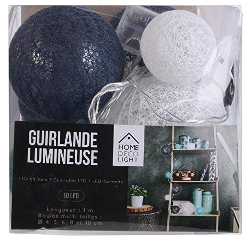 The Home Deco Light Guirlande Lumineuse Boules color/ées 10 LEDs Multi-Tailles
