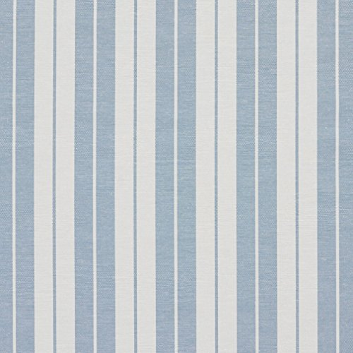 A583 Aero Blue And White Ticking Stripes Heavy Duty Contemporary Upholstery Fabric By The (Timeless Ticking Stripe)