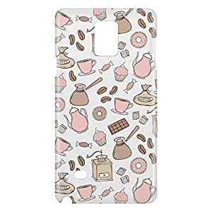 Loud Universe Samsung Galaxy Note 4 3D Wrap Around Bakery Print Cover - Multi Color