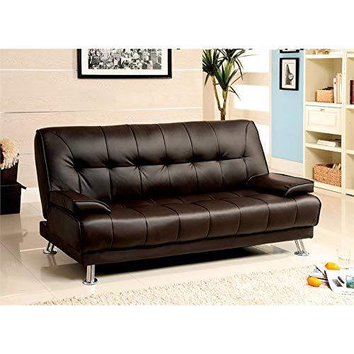 Furniture of America Adeline Contemporary Dark Brown Futon Sofa