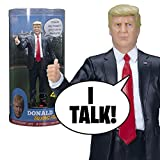 "This beautifully sculpted Donald trump talking figure says 17 lines in trump's own voice - and yes, together, we will make America great again. - Oh, don, you're a little controversial, you're talking about illegal immigration. I said, ""it's illegal ..."