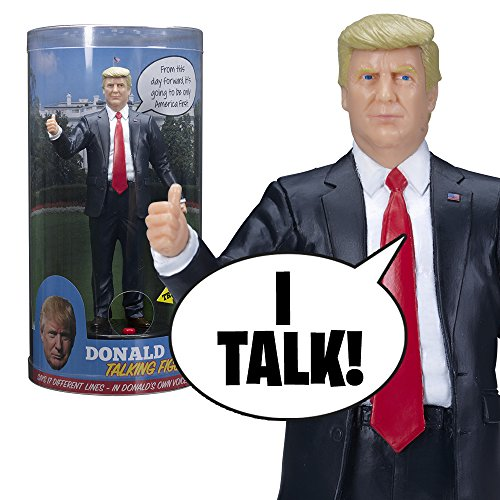 Donald Trump Talking Figure – Says 17 Different Audio Lines In President Trump's Own Voice – Loaded with his Most Funny & Memorable Quotes – Beautifully Sculpted – Incl. Batteries – Collectible Gift