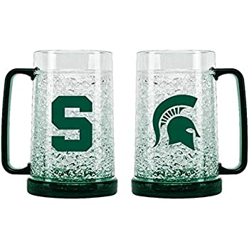 NCAA Michigan State Spartans 16oz Crystal Freezer Pilsner