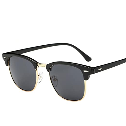 df4f2f6be97 Amazon.com  HANYI Semi Rimless Polarized Sunglasses Women Men Retro Brand  Outdoor Sports Sun Glasses (A)  Clothing