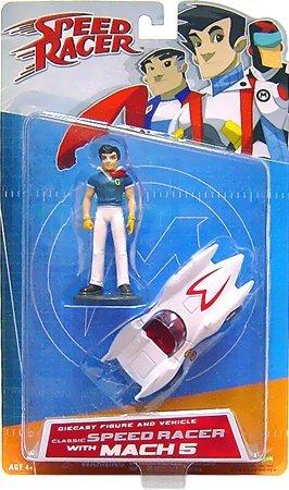 Speed Racer Art Asylum Die-Cast Series 1 Classic Speed Racer with Mach (Racers Mach 5 Toy)
