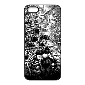monsters drawing black and white iPhone 4 4s Cell Phone Case Black Customized Items zhz9ke_7329954