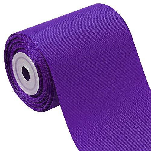 Laribbons 3 Inch Wide Solid Color Grosgrain Ribbon - 10 Yard/Spool (Purple)