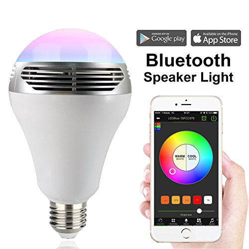 MagicLight Bluetooth Speaker Bulb, 3rd Generation - Multicolored Color Changing Disco Party Light Bulb - Dimmable Soft White (Disco Light Bluetooth Speaker)