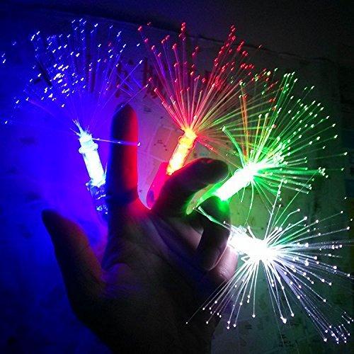 Anthonygift LED light-emitting Night Fiber Optic Finger colorful fiber finger party (40pcs)