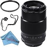Fujifilm XF 90mm f/2 R LM WR Lens 16463668 + 72mm UV Filter + Fibercloth + Lens Capkeeper Bundle