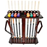Iszy Billiards Cue Rack Only-10 Pool-Billiard Stick and Ball Set Floor-Stand