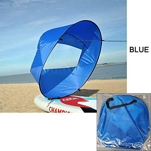 "46/"" Foldable Kayak Instant Wind Sail Kit /& Carry Bag Easy Canoe Sailing"