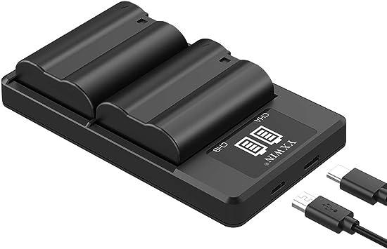 d610 d500 EN-EL15 EN EL15a Camera Battery Charger Set d7200 MH-25a d7200 d850 YXWIN Replacement Batteries Compatible with Nikon d750 z6 2-Pack, Micro USB /& Type-C Ports, 2100mAh d7500 d810