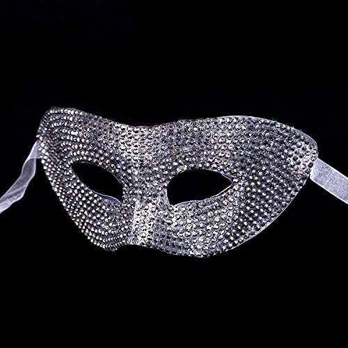 (Dalino Creative Halloween Party Masquerade Princess Rhinestone Mask)