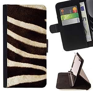 For Samsung Galaxy S5 V SM-G900 Case , Rayas Blanco Negro Líneas Naturaleza África- la tarjeta de Crédito Slots PU Funda de cuero Monedero caso cubierta de piel