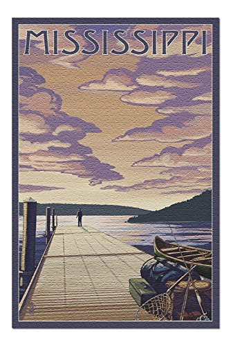 Mississippi - Dock Scene and Lake (20x30 Premium 1000 Piece Jigsaw Puzzle, Made in USA!) -  Lantern Press, LANT-3P-PZ-69022-20x30
