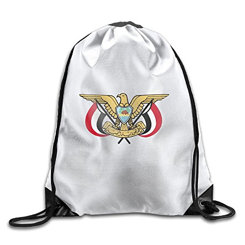Coat Yemen (LoveoorheebeFB Unisex Coat Of Arms Of Yemen Fashion Beam Mouth Backpack&drawstring Double Shoulder Bag Drawstring Travel Backpack For Men And Women)