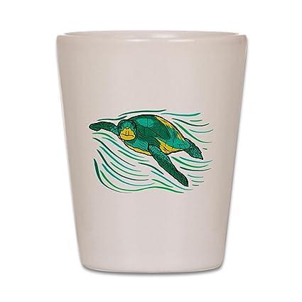 2e2e930bd6d Amazon.com | CafePress - Swimming Sea Turtle - Shot Glass, Unique ...
