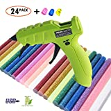 NEX&CO Cordless Glue Gun, Rechargeable Hot Melt Glue Gun with 2200mAh Lithium Battery | 10 Watts | 90 Minutes Working Time with One Charge | Wireless Portable Glue Gun w/USB Cable | School and Office