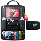 Backseat Car Organizer For Kids, Babies And Toddlers, With Tablet Holder By Cartik iPad Touch Screen, Fit To Baby Stroller, Large Storage, Kick Mat, Back Seat Protector, Organizer eBook