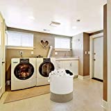 """MINTWOOD Design XXXLarge 20"""" x 18"""" Decorative Woven Cotton Rope Basket, Tall Laundry Basket/Hamper, Blanket Basket for Living Room, Storage Baskets with Handles for Toys, Throws, Pillows, and Towels"""