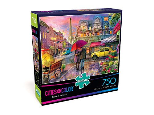 Buffalo Games - Cities in Color - Raining in Paris - 750 Piece Jigsaw Puzzle by Buffalo Games (Image #2)